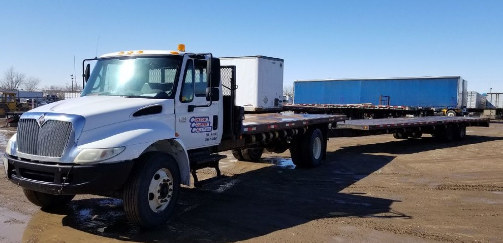 3 ton flat with trailer